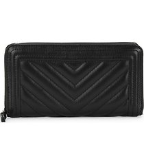 update chevron leather continental wallet