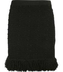 bottega veneta compact cotton mesh skirt