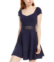 crystal doll juniors' lace-waist dress