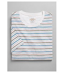 reserve collection tailored fit stripe crew neck t-shirt - big & tall