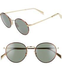women's celine 50mm round sunglasses - bronze/ green