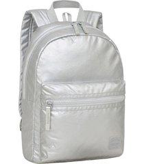 mochila clio metalizado plata head