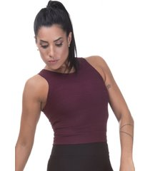 regata cropped bandagem miss blessed marsala - kanui