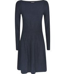 emporio armani stripe patterned dress