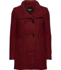 onlnewsophia wool coat cc otw wollen jas lange jas rood only
