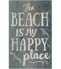 p graham dunn the beach is my happy place wall art