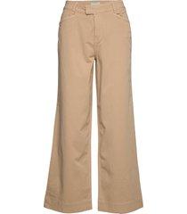 francoise trousers wijde broek beige morris lady