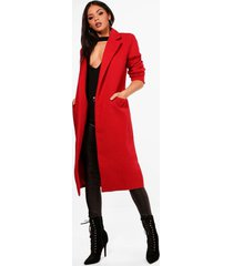 tailored coat, red