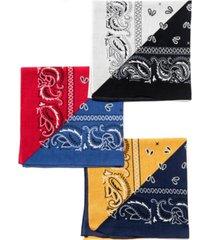 collection xiix color block square bandana set, 3 pack