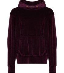 les tien velvet effect hoodie - purple