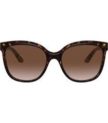 burberry marblecheck 55mm square sunglasses in dark havana/brown gradient at nordstrom