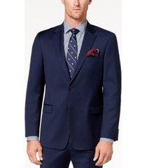 tommy hilfiger men's modern-fit th flex stretch navy twill suit jacket