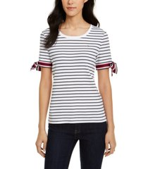 tommy hilfiger striped tie-sleeve top