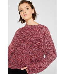 sweater con lana fucsia esprit