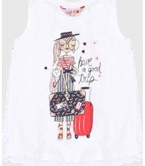 camiseta esqueleto blanco-multicolor boboli