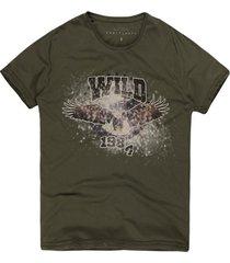 camiseta masculina wild 1984 militar