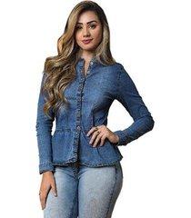 camisa jeans tyn feminina