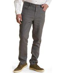 pantalón lino grafito rockford