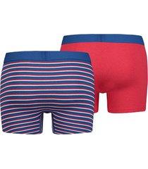 levi's 2-pack heren boxer - gestreept/rood