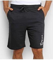 shorts moletom polo in masculino