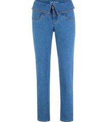 jeans elasticizzati comfort con cinta risvoltata classic fit (blu) - john baner jeanswear