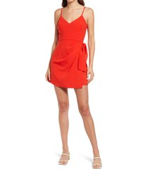 french connection whisper bow envelope sleeveless dress, size 6 in flame at nordstrom