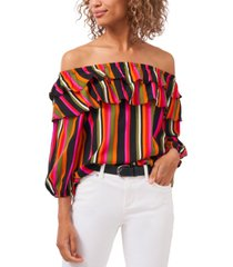 riley & rae off-the-shoulder vibrantly striped top, created for macy's
