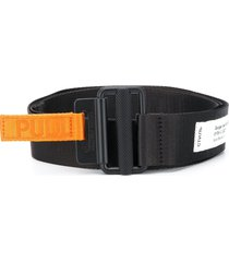 heron preston woven logo belt - black