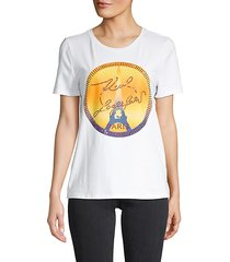 embellished stretch-cotton tee