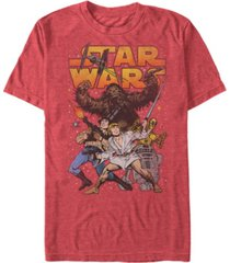 star wars men's classic cartoon good guys short sleeve t-shirt