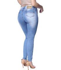 calça skinny zigma luz azul