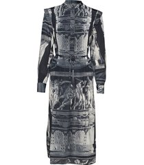 yassin p jurk knielengte grijs tiger of sweden