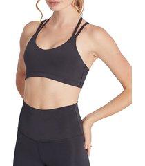 wildfox women's solid strappy bra - black - size xs