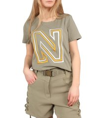 n logo embroidery t-shirt