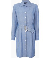 thierry mugler pre-owned western shirt dress - blue