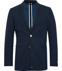 d1. washable jersey pique blazer blazer colbert blauw gant