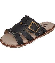 sandália infantil raniel calçados papete chinelo com fivela preto