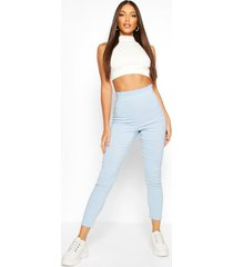 stretch woven frill top trouser, blue