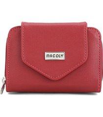 billetera mini a017 toscana rojo
