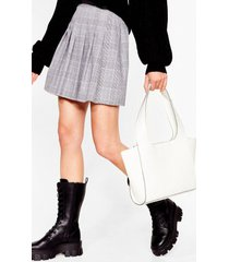 womens want it's croc a love song tote bag - white