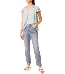 french connection endra flutter-sleeve top