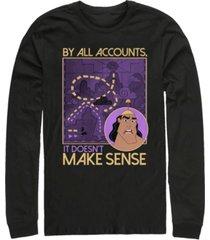 disney men's emperor's new groove kronk doesn't make sense, long sleeve t-shirt