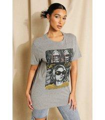 oversized gelicenseerd kurt cobain t-shirt, grey marl
