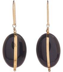 women's isabel marant stone shell drop earrings