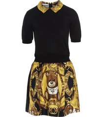moschino teddy barocco dress