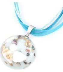 perla di conchiglia romantica della boemia dell'oceano interno collane clavicola pendente per donne