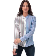 only womens harry mix stripe shirt size 8 in white