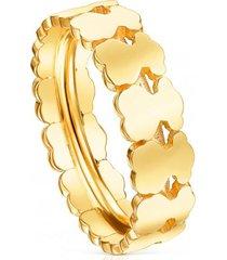 anillo straight aro de plata vermeil dorado tous