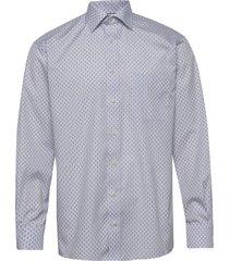 blue medallion poplin shirt overhemd business blauw eton