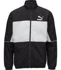 retro woven track jacket sweat-shirt tröja svart puma